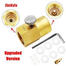 SodaStream CO2 Karbonator Zylinder Kanister Refill Adapter Füllung Lade Adapter mit Pin & W 21,8 14 oder CGA320 Stecker