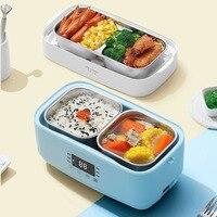220V Elektrische Doppel-schicht Lunch Box Edelstahl Liner Reiskocher Heizung Timing Isolierung Herd 1 5 L Für office Home