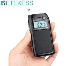 Retekess PR12 Mini Radio de poche FM AM récepteur Radio de réglage numérique 9 K/10 K lecteur de musique MP3 batterie Rechargeable Radio Portable