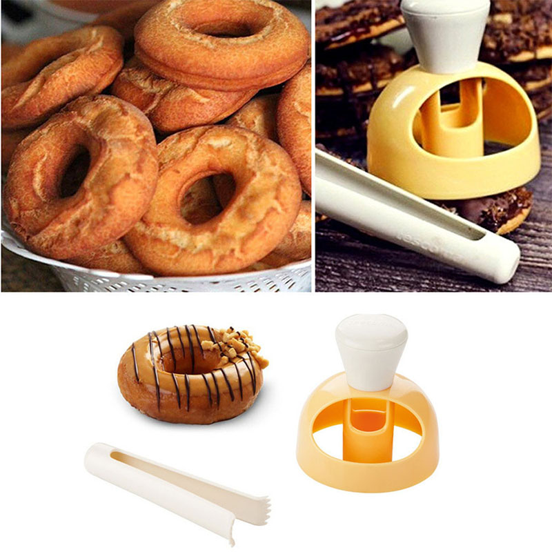 DIY Cookie Cake Donuts Maker Mold  Molds Fondant Cake Plastic Bakery Doughnut DIY Fried Donut Maker Kitchen Banking Pastry Tools