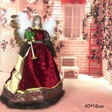 Bonito sorrindo anjo bonecas artesanato presentes casa decorações do dia de natal em pé de pelúcia natal ornamentos festivos temporada
