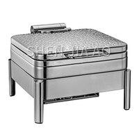 6l aço inoxidável molho forno sopa fogão recipiente molho de sopa martelo quadrado aço capa (para fogão de indução) panela de alimentos 1 pc