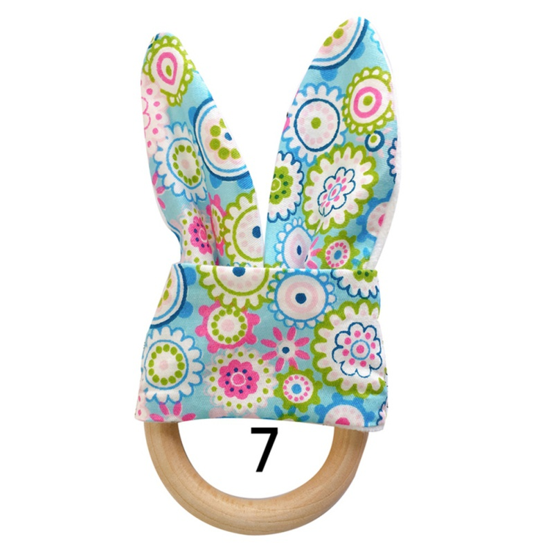 Милый детский Прорезыватель деревянное кольцо зубное кольцо детский прорезыватель зуб упражняющая игрушка - Цвет: G