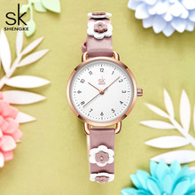 Lovely Flower Children Watches Rosegold Simple Design Pink Color Girls