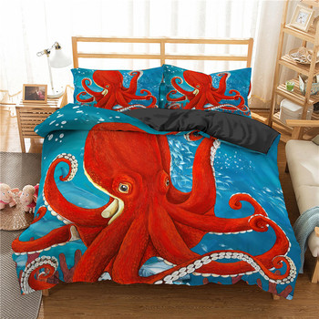 Luxury 3D Animal Octopusushttp://www.octopus.com/pilecovers The Full-size Bed with Queen Queen image