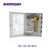 цена на CCTV Power Supply Switch 12V 5A 9CH Channel Power Supply Box for CCTV Camera Security Surveillance - CCTV Security Accessories