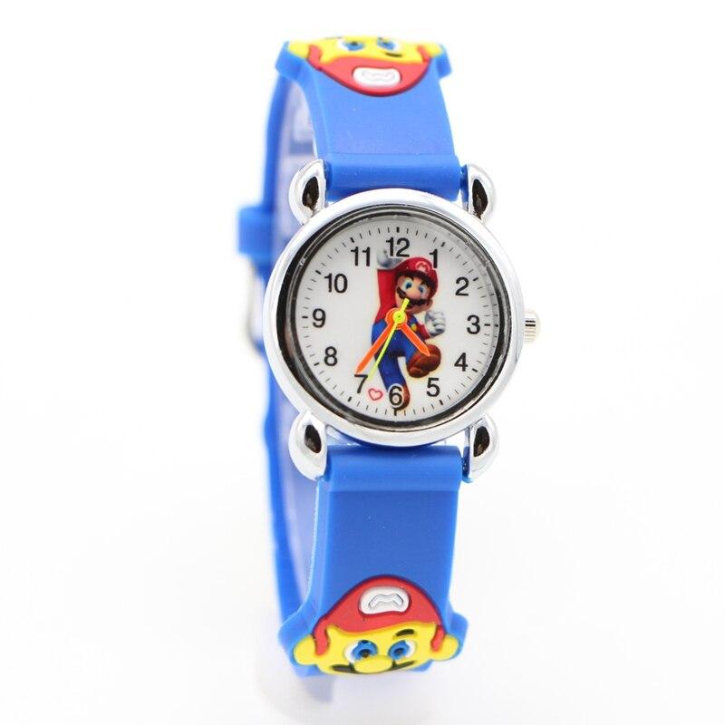 New 3D Cartoon Super Mario Doll Kids Watch Children Kids Girls Boys Students Quartz Wristwatches Supermario