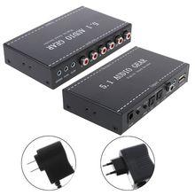 Bgektoth 5.1 오디오 기어 디지털 사운드 디코더 오디오 컨버터 서라운드 러시 dvd ps3 용