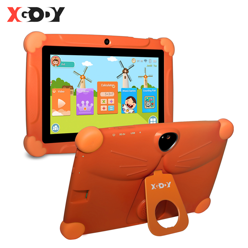XGODY T703 Children Tablet PC Android 8.1 Christmas Gift 7 Inch Kids Tablet 1GB+16GB Quad Core 1024*600 HD Touch Screen Tablets