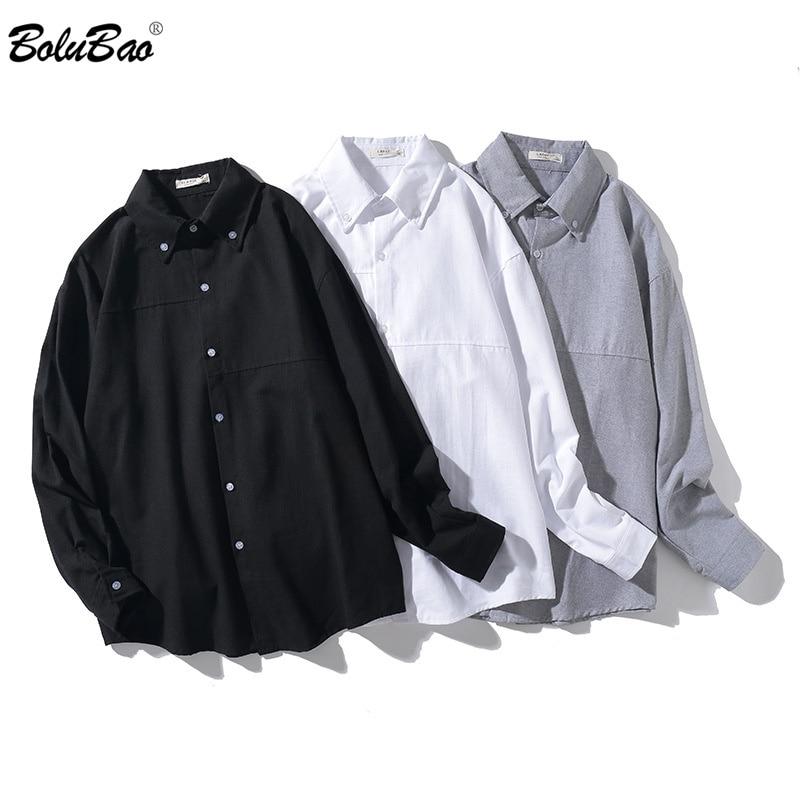 BOLUBAO Autumn New Men Plaid Shirt Tops Fashion Brand Men's Business Casual Oxford Shirt Slim Fit Long Sleeve Shirts Male