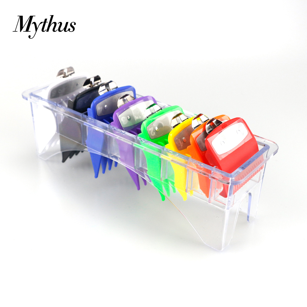 Mythus 8 Sizes Metal Trimmer Limit Comb Universal Colorful Hair Clipper Guards Guide Comb