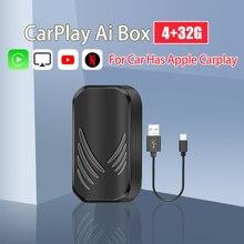 Новый беспроводной ключ Carplay Ai Box на Andorid для Audi Benz Vw Volvo Porsche Honda Ford Lexus Mazda Kia Jeep с Apple Car play