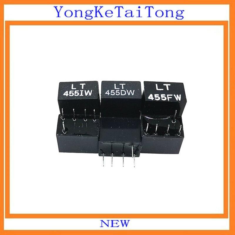 5PCS LT455IW LT455DW LT455FW 455KHZ 455K DIP4+1 LT455 Ceramic Filter For Communication Signal Relay