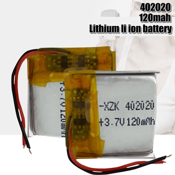 3.7V 120mAh 402020 Lithium Polymer LiPo Rechargeable Battery power For Mp3 phone electronic device Bluetooth pen image