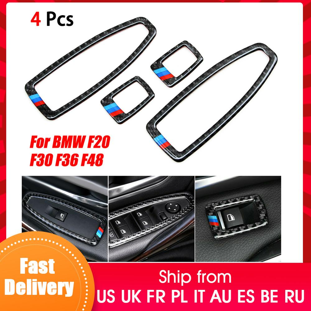 Car Door Window Switch Frame For BMW F20 F30 F34 F36 F48 1 3 4 Series Trim Cover