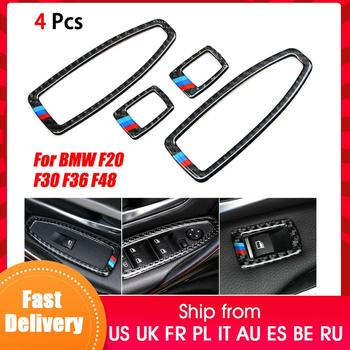 Car Door Window Switch Frame For BMW F20 F30 F34 F36 F48 1 3 4 Series Trim Cover car headlight switch button decorative frame cover trim for bmw 3 4 series gt f30 f34 2013 2018 car styling modified stickers