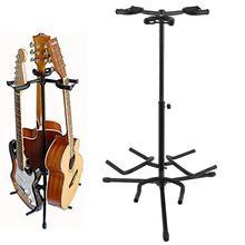 Portable Universal Guitar Stand Black Folding Tripod Stand for Acoustic Guitar, Classic Guitar, Electric Guitar (Tripod Guitar S цена и фото