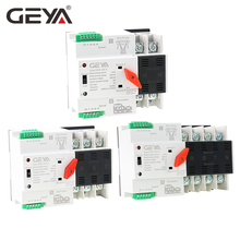 Free Shipping GEYA W2R ATS 220V PC Dual Power Automatic Transfer Switch 63A 100A Household Power Transfer Switch 50/60Hz dual power ats automatic transfer switch 125a single three phase genset circuit switch diesel generator part 110v 220v 380v