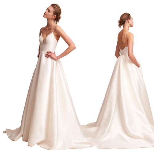 Satin White Long Evening Dress Sexy Women Prom Gown Dresses Backless Evening  Party Gown Dress For Robe Soiree And Wedding Party