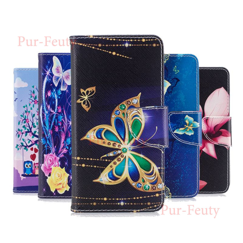 Case On For Huawei Y7 2019 DUB LX1 LX2 L22 Leather Flip Wallet Stand Magnetic Cartoon Fashion Phone Cover For Huawei Y7 Y 7 2019 image
