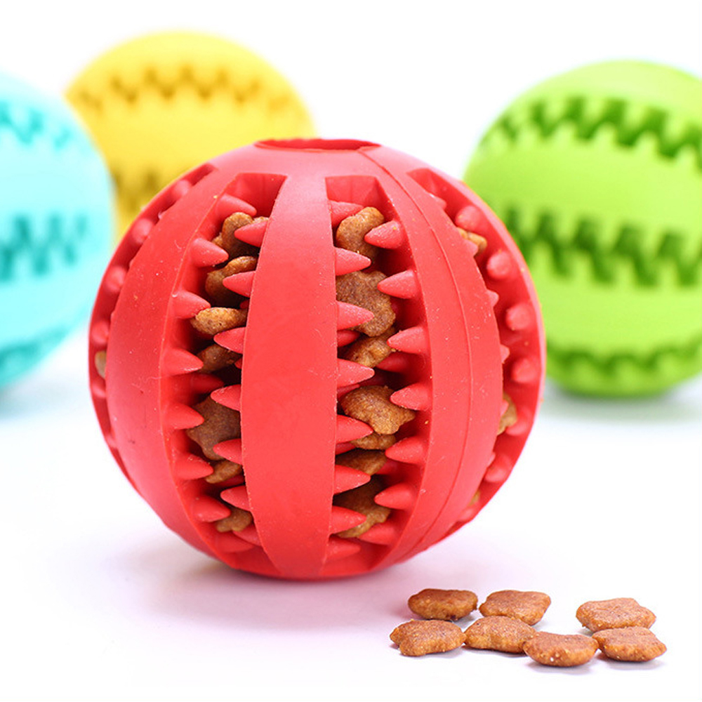 Dog Tooth Clean Ball Food Extra-tough Rubber Balls Soft Pet Dog Toy Funny Interactive Elasticity Ball Dogs Chew Toy For Dogs