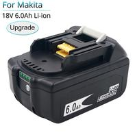 BL1860B 18V 6000mAh Replacement Battery for Makita BL1850B BL1860 BL1840 BL1815 Cordless Drill with Single Cell Balance Protect