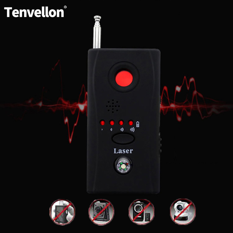 Full Range Anti Spy Bug Detector  Mini Wireless Camera Hidden Signal GSM Device Finder Privacy Protect Security Built-in Compass