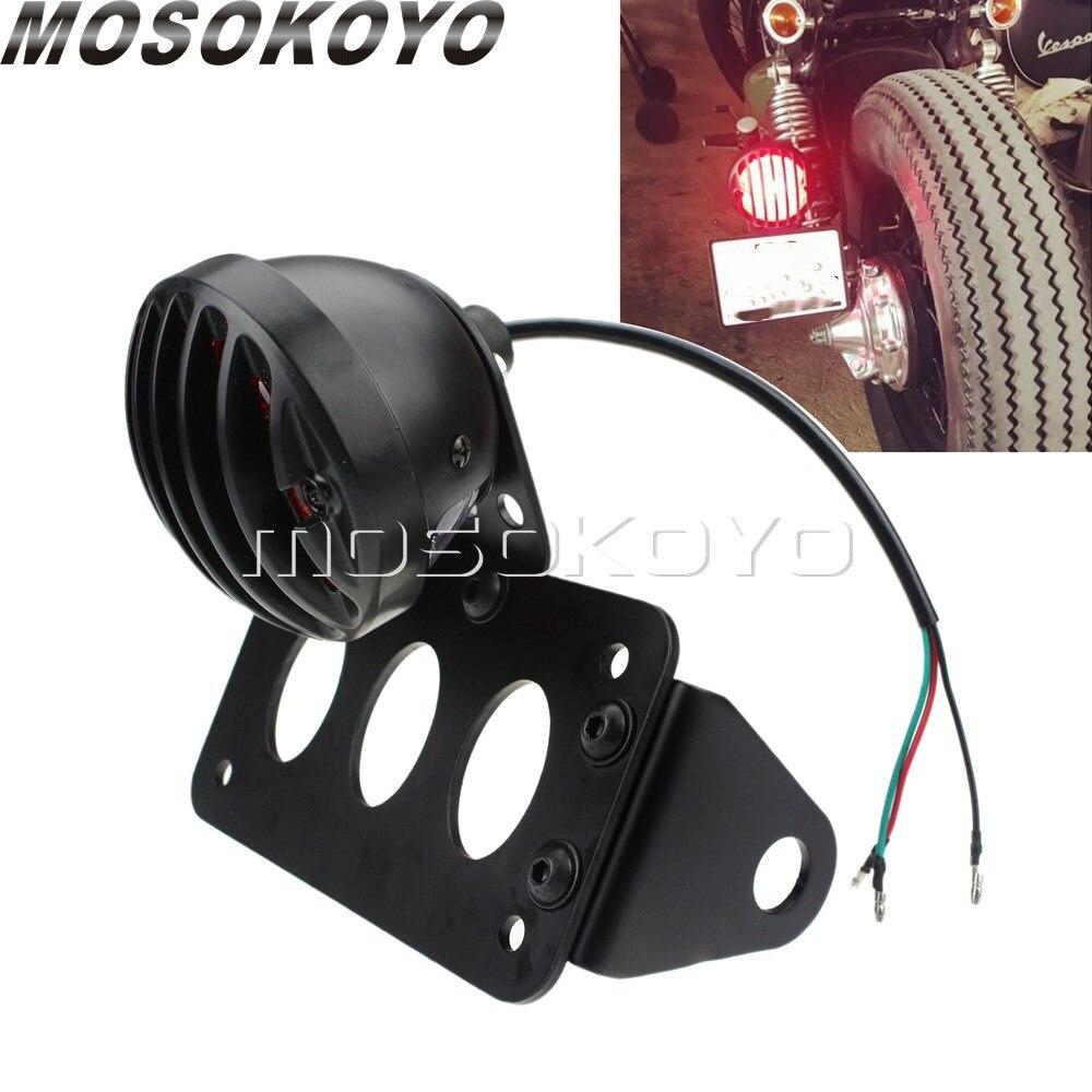 Tail Brake Light Number Plate Holder for Harley Cafe Racer Chopper Cruiser Dyna
