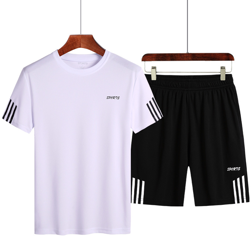 280 Large Size Two-Piece Set Summer Sports Leisure Suit M-9xl Training Suit Running Short