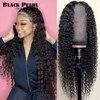 Siyah inci brezilyalı 13X4 dantel ön İnsan saç peruk ön koparıp bebek saç ile derin dalga peruk 150% derin dalga 360 Frontal peruk