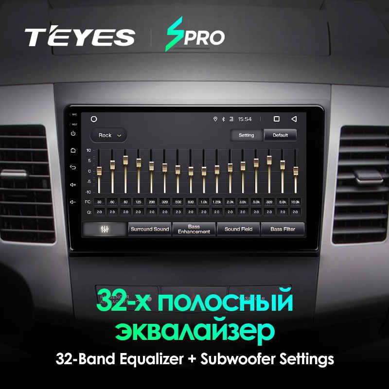 TEYES SPRO para Mitsubishi Outlander CW0W, para Citroen c-crosser para Peugeot 4007, reproductor Multimedia de vídeo, navegación No 2 din dvd
