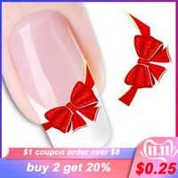 1sheets DIY Designs Frauen Elegante Nail art Aufkleber Decals Rot Schmetterling Krawatte Decals Patch Französisch Spitze Care Styling Werkzeug LASTZ-034
