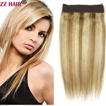 Halo Human-Hair-Extensions Remy-Hair Hair-Flip 100g-200g One-Piece-Set 16--28-machine-Made
