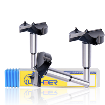 цена на UCHEER 1pc 15-70mm Forstner Carbon Steel Boring Drill Bits Self Centering Hole Saw Tungsten Carbide Woodworking Cutter Tools