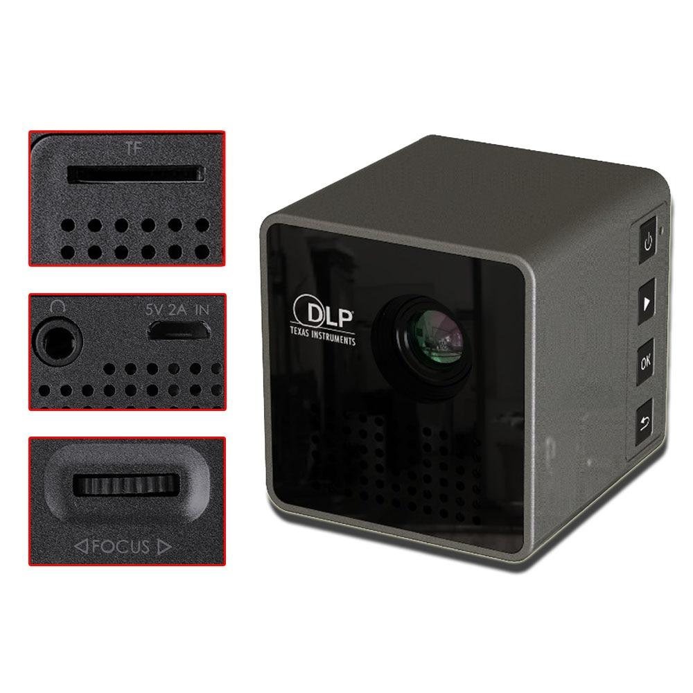 UNIC nouveau Mini projecteur DLP P1 + H Plus connexion sans fil Wifi pour IOS/Android/PC Support Portable DLNA projecteur de film à domicile - 4