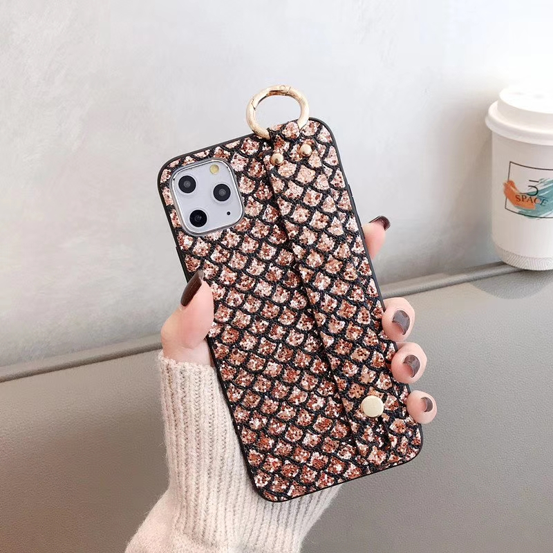 For <font><b>Huawei</b></font> <font><b>P20</b></font> P30 Mate20 Mate30 Pro Lite Nova3 Nova4 Honor10 Cover DIY CZ <font><b>diamond</b></font> Pattern Holder Stand Glitter Wrist Phone <font><b>Case</b></font> image
