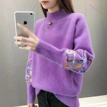 Pullovers autumn winter Women Knitted turtleneck Sweater Casual Soft and warm Jumper Fashion Slim Femme Elasticity Pullovers(China)