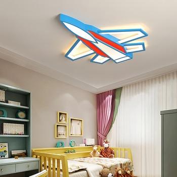 항공기 어린이 램프 현대 led 샹들리에 침실 소년 소녀 어린이 방 홈 장식 90-260 v 천장 샹들리에