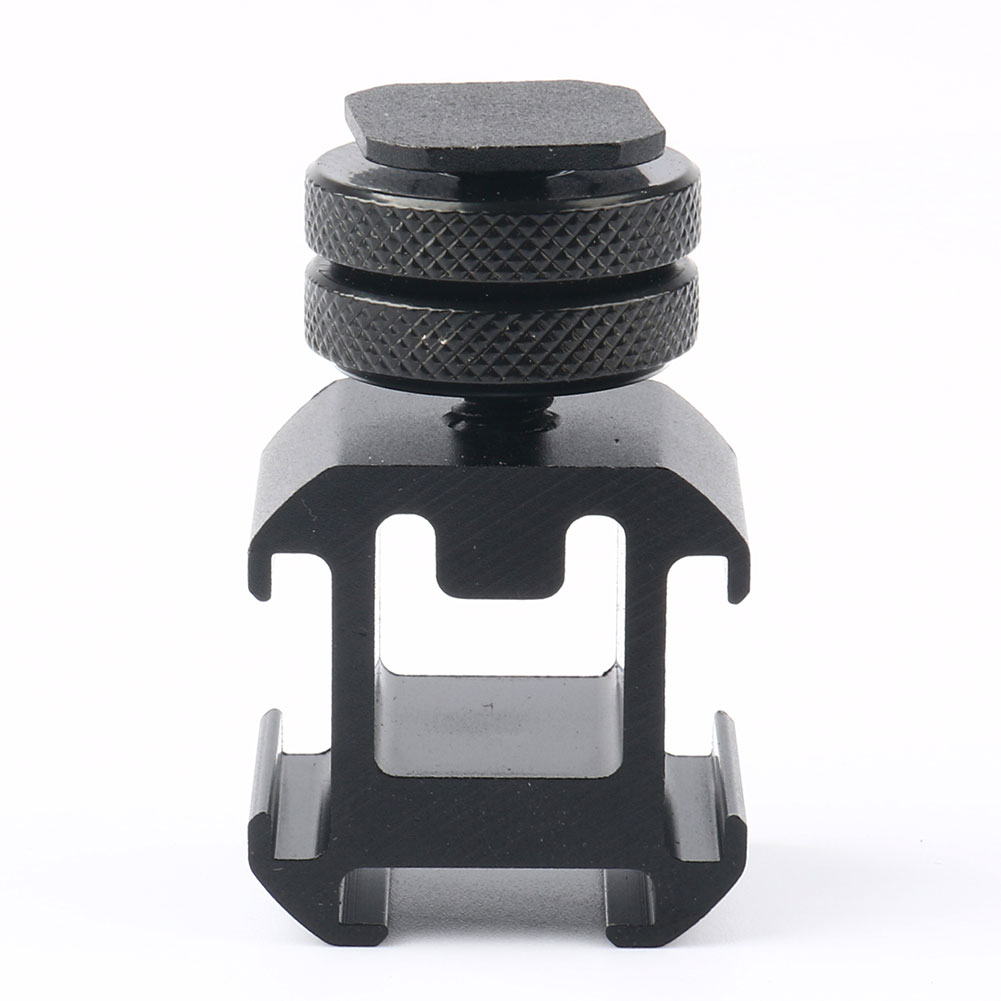 Three Head Practical Hot Shoe Base Set On Camera Mount Microphone Use Smooth Connect For Video Light Metal Adapter Professional image