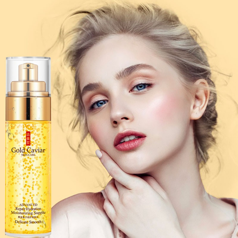 24K Gold Facial Toners Moisturizing Firming Skin Shrinking Pores Gentle Hydrating Face Tonic Toners image