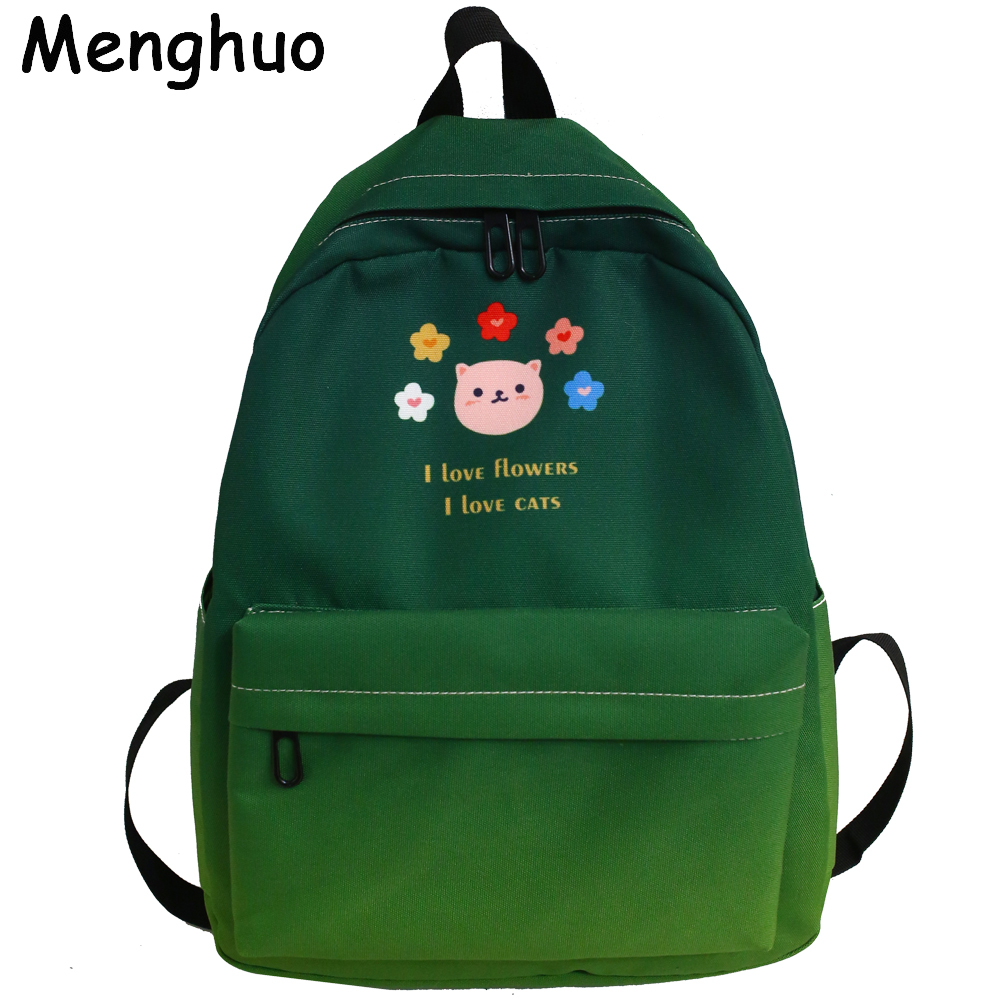 Menghuo New Colorful Women Backpacks Gradient School Bags For Teenage Girls Travel School Shoulder Bag Rainbow Book Bag Mochilas