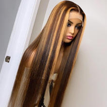 Peluca de encaje Frontal transparente HD, peluca brasileña recta sin pegamento, peluca con diadema, color marrón, pelucas de cabello humano prearrancado