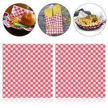 100 листов клетчатая Deli подкладка в корзину клетчатая пищевая обертка ping бумаги жиростойкие сэндвич обертывание гамбургером предотвращает появление пятен