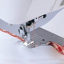 Свернутый Край швейная домашняя металлическая прямая зигзагообразная машина аксессуары практичная ножная Регулируемая Полезная кромка прижимная прочная