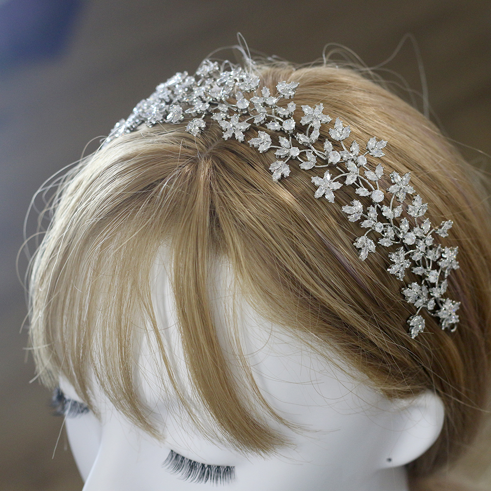 Image 5 - Luxury Bridal Crown Hairband Fashion Bridal Wreath Wedding 