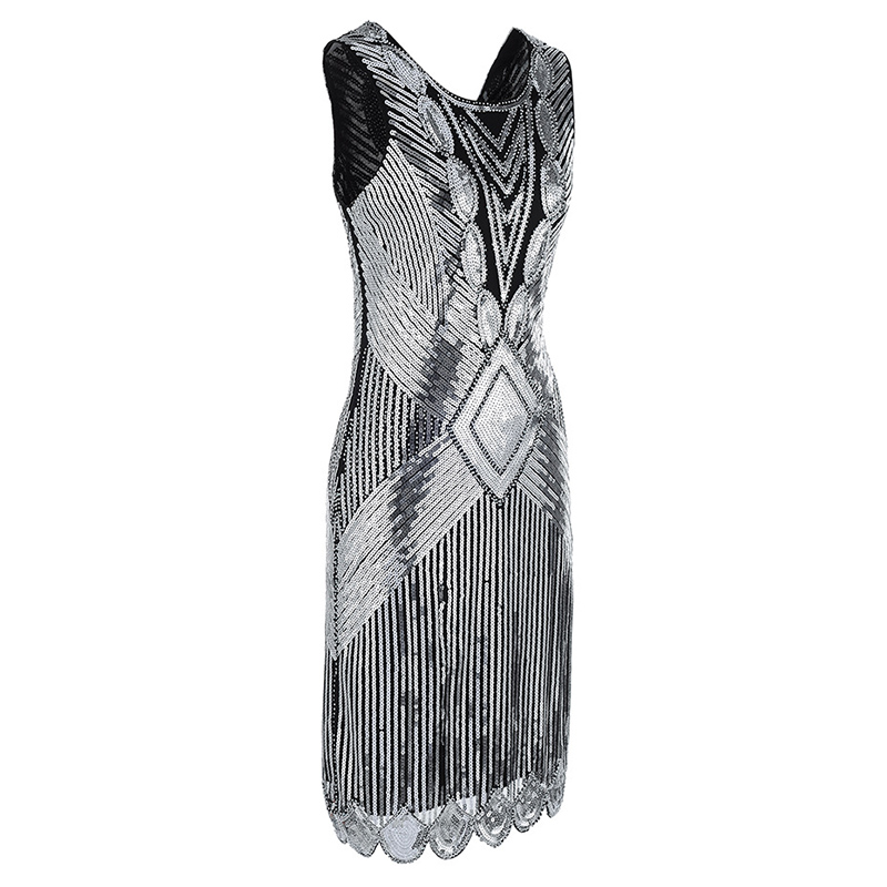 1920S FRINGE FLAPPER DRESS (2)