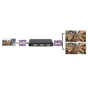 Image 4 - 2 Ports DVI Splitter 1x2 dvi Adapter Distributor,Dual link Dvi D 29 pin Female Connector For CCTV Monitor Camera Multimedia STB