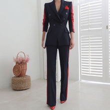 CINESSD two piece Set For Dress Formal jacket Suits Long Sle