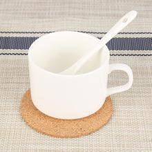 Круглая форма подстаканник простые пробковые подстилки для напитков и вина коврики для чайного стола для домашнего офиса Нескользящая посуда
