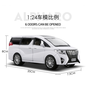 Image 4 - NEW 1:24 1:32 Toyota Alphard Luxury Business Car Model Alloy Pull Back Diecasts Toy Vehicles 6 doors can be opened Free Shipping